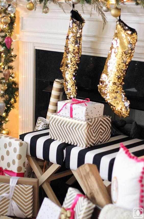 Decoraciones navide as en color dorado y amarillo 9 for Decoracion y organizacion del hogar