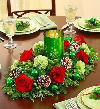 Decoraciones navidenas para la mesa 7 curso de for Decoracion navidena hogar