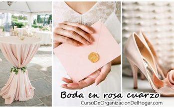 Detalles para boda en color rosa cuarzo
