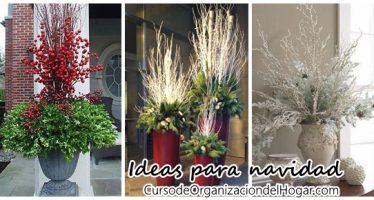 Floreros para decorar en navidad