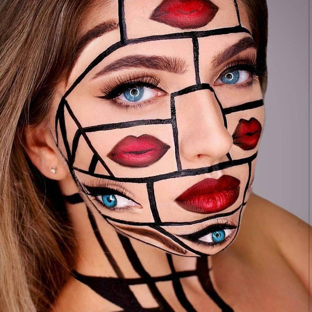 Maquillajes de ilusión optica para halloween