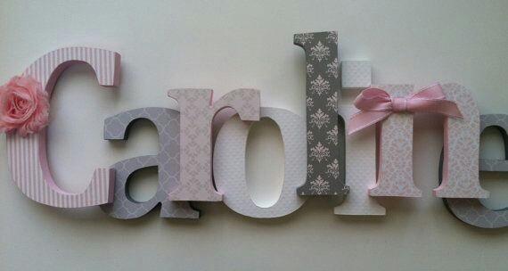 Ideas para decorar nombres con madera 28 curso de - Ideas para decorar letras de madera ...
