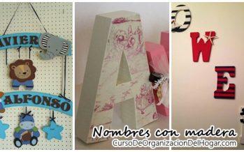 Ideas para decorar – Nombres con madera