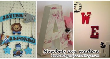 Ideas para decorar – Nombres con madera