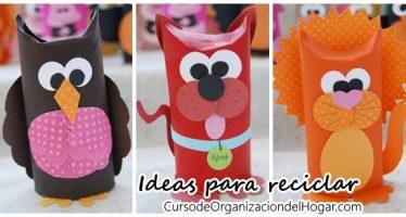 Ideas para reciclar rollos de papel