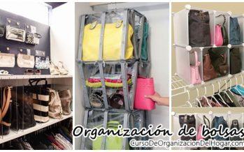 Ideas y soluciones para organizar bolsos