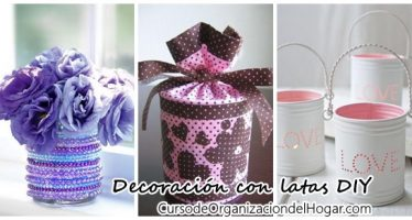 Latas de leche decoradas – DIY
