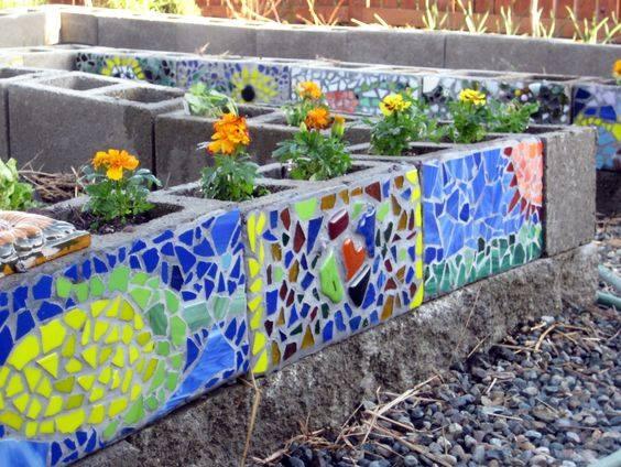 Maceteros con bloques de cemento 18 curso de - Bloques de hormigon decorativos ...