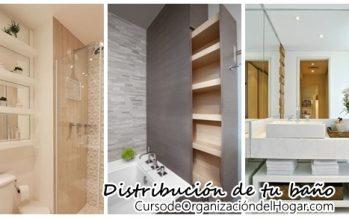 Opciones para la distribución correcta de tu baño