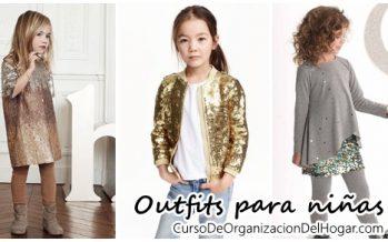 Outfits con lentejuelas para niñas