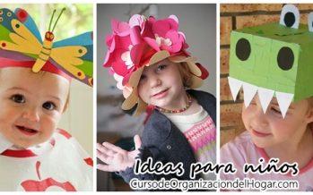 Sombreros y viceras DIY para niños