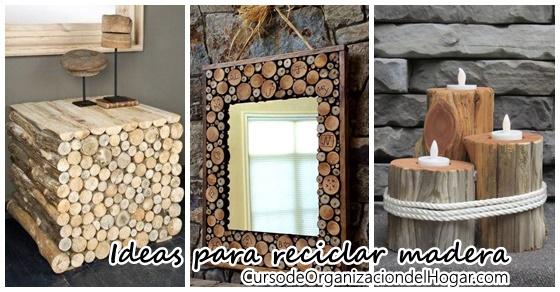 Trabajos con madera reciclada curso de organizacion del for Decoracion en madera para el hogar