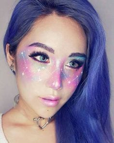 Maquillaje celestial para halloween
