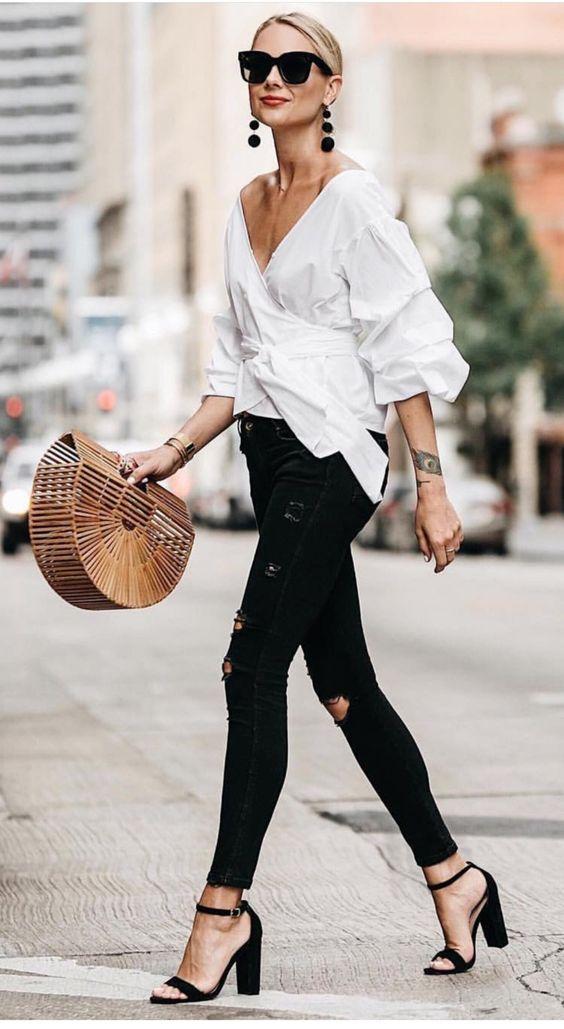 Como usar blusa blanca y verte genial