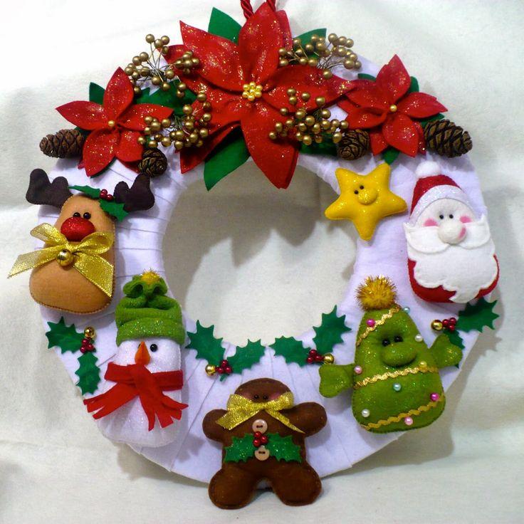 Cojines navidenos decorados con fieltro 42 curso de - Decorar cojines con fieltro ...
