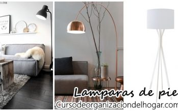 Decoración con lamparas de pie