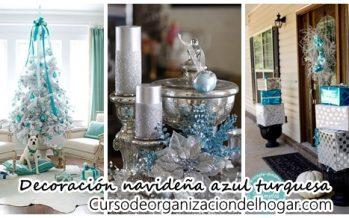 Decoración de navidad color turquesa