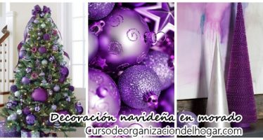 Decoración navideña 2016 en color morado