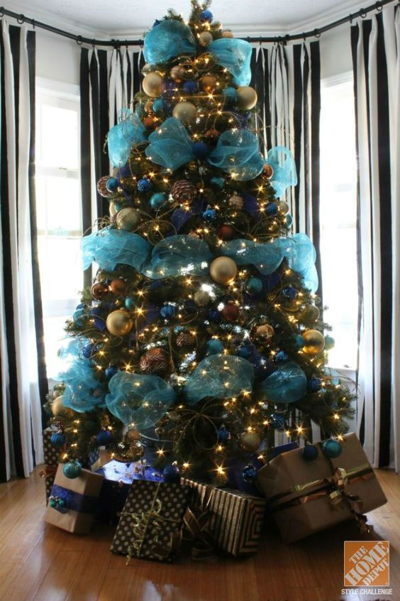 Decoracion navidena 2016 verde azulado 30 curso de for Decoracion de hogar 2016