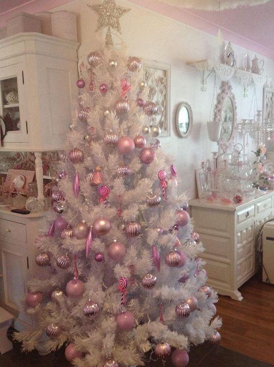 Decoracion navidena color rosa 2 curso de organizacion for Decoracion del hogar navidena