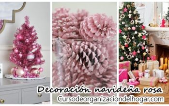 Decoración navideña color rosa
