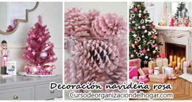 Decoración navideña color rosa