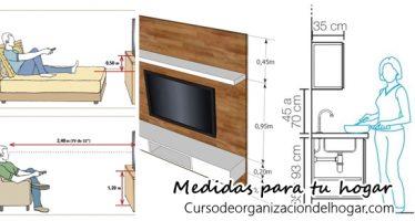 Guía práctica con medidas de muebles para la decoración de interiores
