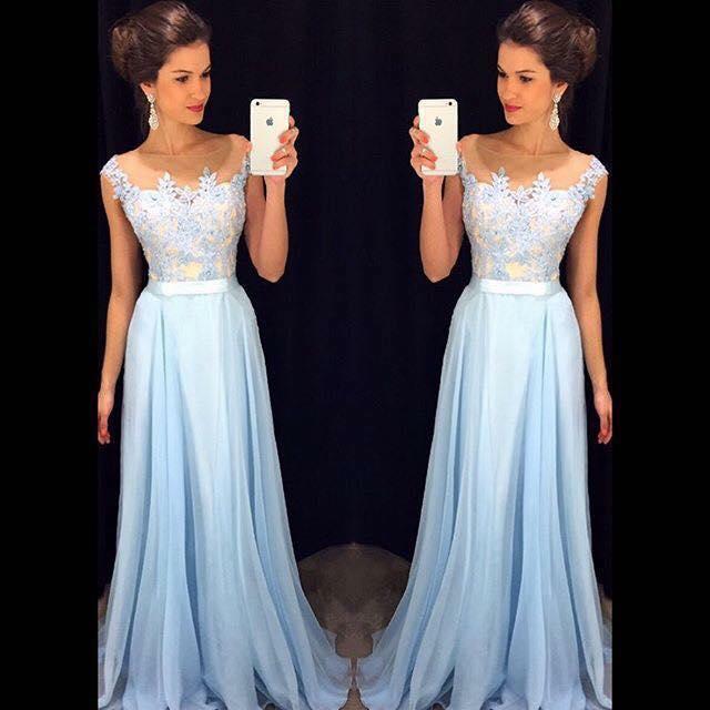 0c70d85a04 Hermosos vestidos largos para fiestas de noche (29) - Curso de ...