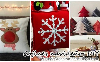 Ideas DIY  de cojines navideños