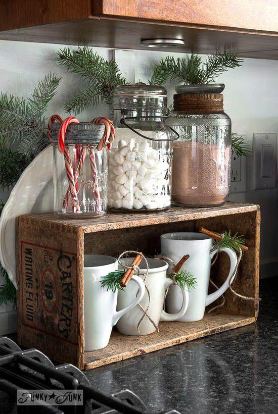 Ideas para decorar tu cocina esta navidad 2016 2017 19 for Frontal cocina ideas