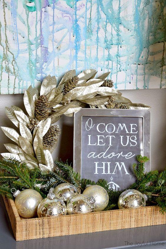 Ideas para decorar tu recibidor esta navidad 2017-2018