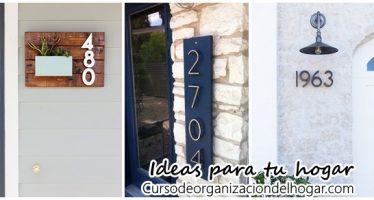 Ideas para poner el numero de tu casa