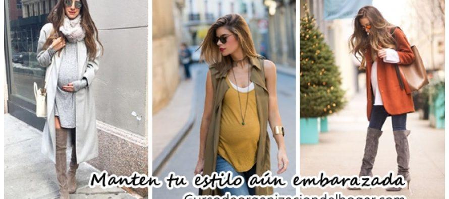 Manten tu estilo aún estando embarazada con estas ideas