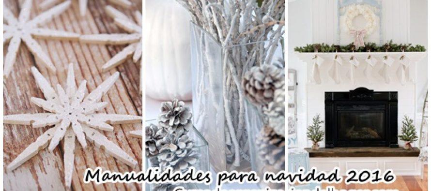 Manualidades y decoraciones para navidad 2016 curso de organizacion del hogar - Decoraciones de navidad manualidades ...