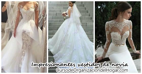 maravillosos vestidos de novia - curso de organizacion del hogar y