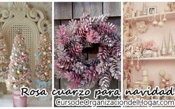 Navidad en color rosa cuarzo