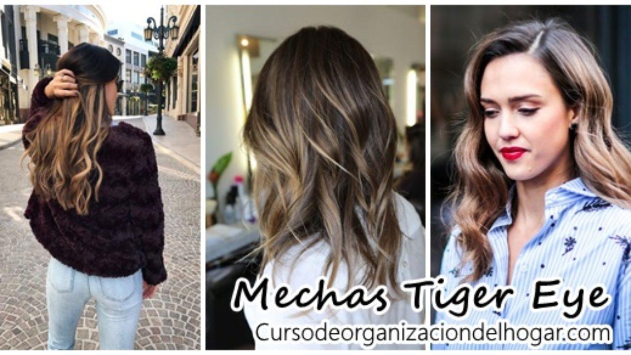 Nueva Tendencia Mechas Tiger Eye Curso De Organizacion Del Hogar Y Decoracion De Interiores