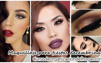 Opciones de maquillaje para fiestas decembrinas