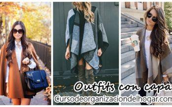 Outfits con capa una super propuesta para invierno 2016