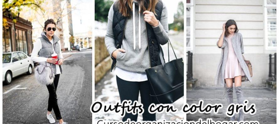 Outfits con gris para invierno 2016