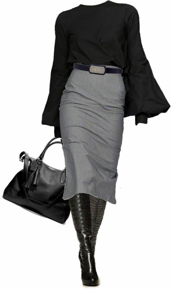 Traje sastre falda para mujer madura