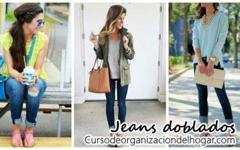 Usar los jeans doblados una tendencia que no pasa de moda