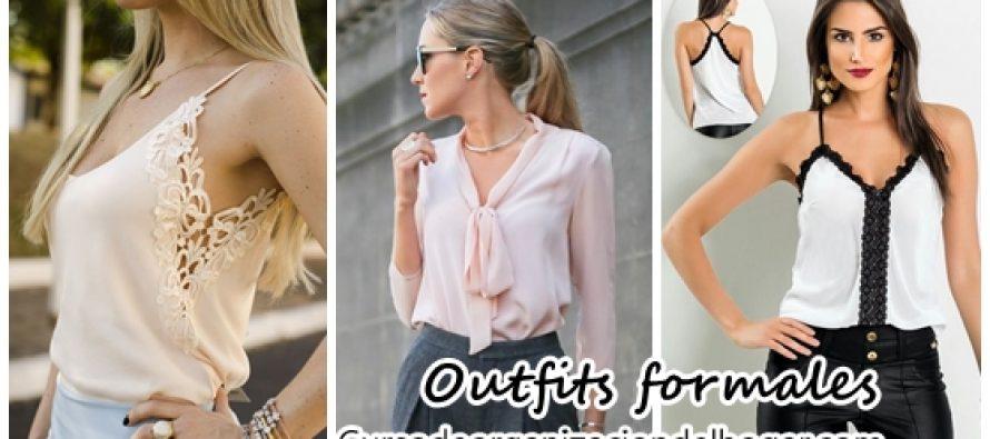 Crea outfits formales Con estos estilos de Blusas