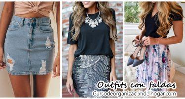 32 Outfits combinando diferentes estilos de falda