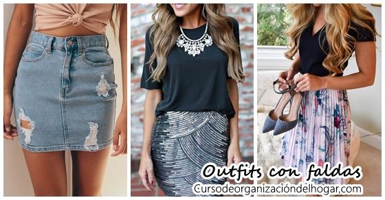 6c5c2f87a 32 Outfits combinando diferentes estilos de falda - Curso de ...