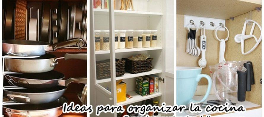 42 ideas para organizar tu cocina