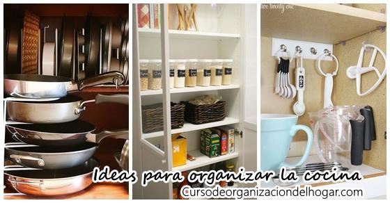 42 ideas para organizar tu cocina curso de organizacion Como organizar una cocina pequena fotos