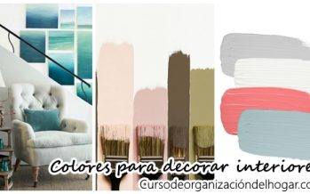 Colores para decorar interiores