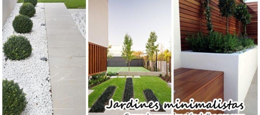 Ideas de jardines minimalistas que debes intentar en tu hogar
