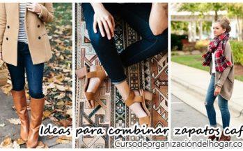 Ideas para combinar zapatos café